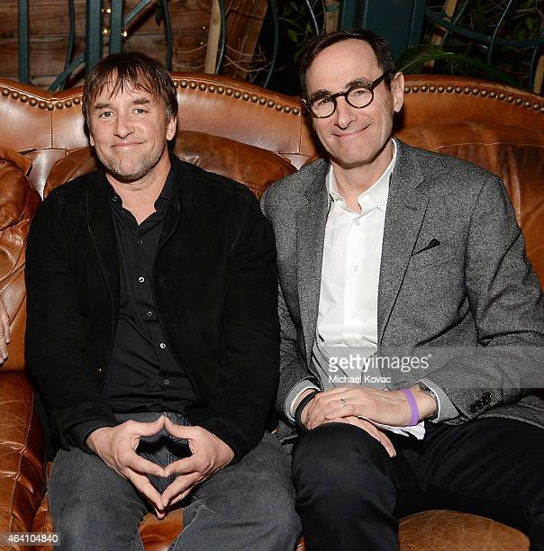 Director Richard Linklater and President CEO AMC Networks Josh Sapan attend the AMC Networks and IFC Films Spirit Awards After Party on February 21...