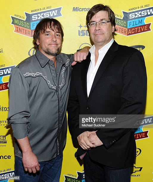 Director Richard Linklater and writer Skip Hollandsworth attend the world premiere of Bernie during the 2012 SXSW Music Film Interactive Festival at...