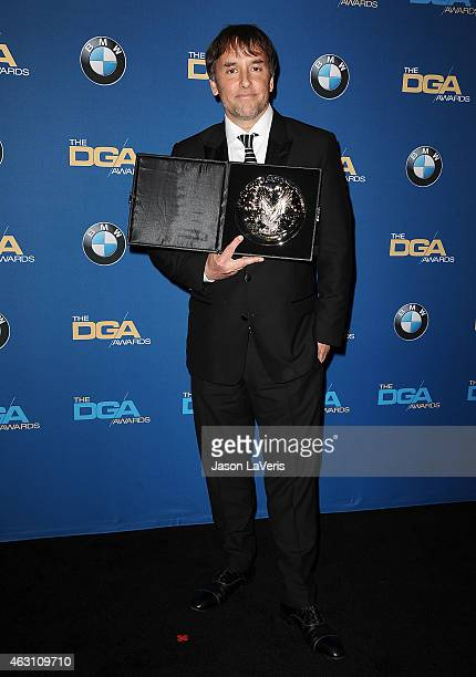 Director Richard Linklater poses in the press room at the 67th annual Directors Guild of America Awards at the Hyatt Regency Century Plaza on...