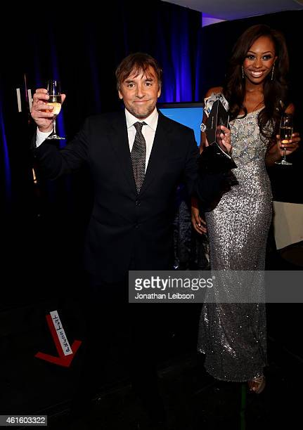 Director Richard Linklater, winner of Best Director for 'Boyhood', poses with award during the 20th annual Critics' Choice Movie Awards at the...