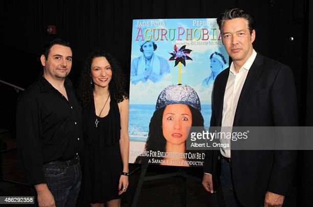 Director Richard Montes actress Jade Puga and actor Russell Wong at the Screening Of Safada Y Sano Productions' 'Aguruphobia' held at Laemmle NoHo 7...