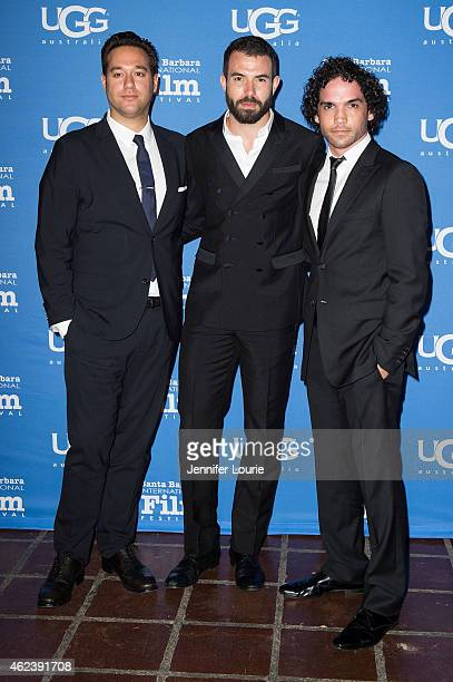 Director Richard Raymond actors Tom Cullen and Reece Ritchie attend the Opening Night of the 30th Santa Barbara International Film Festival featuring...
