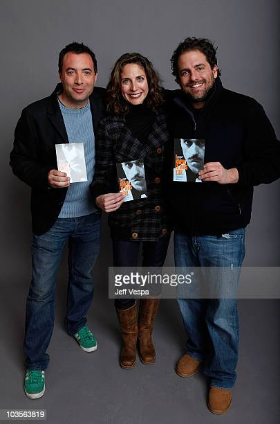 Director Richard Shepard, producer Stacey Reiss and producer Brett Ratner pose for a portrait during the 2009 Sundance Film Festival held at the Film...