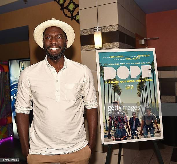 Director Rick Famuyiwa attends advanced screening of DOPE The Movie at Regal Cinemas Atlantic Station Stadium 16 on May 6 2015 in Atlanta Georgia