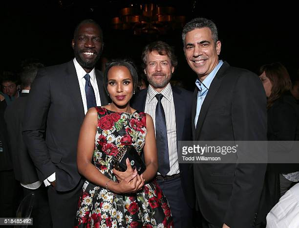 Director Rick Famuyiwa, Kerry Washington, Greg Kinnear and Producer Michael London attend the after party for the premiere of HBO Films'...