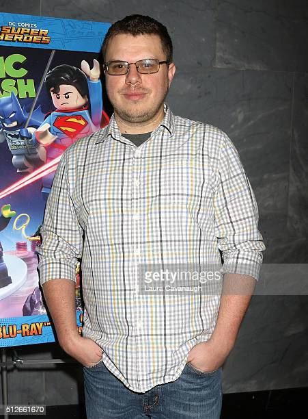 Director Rick Morales attends Lego DC Comics Super Heroes Justice League Cosmic Clash at The Paley Center for Media on February 27 2016 in New York...