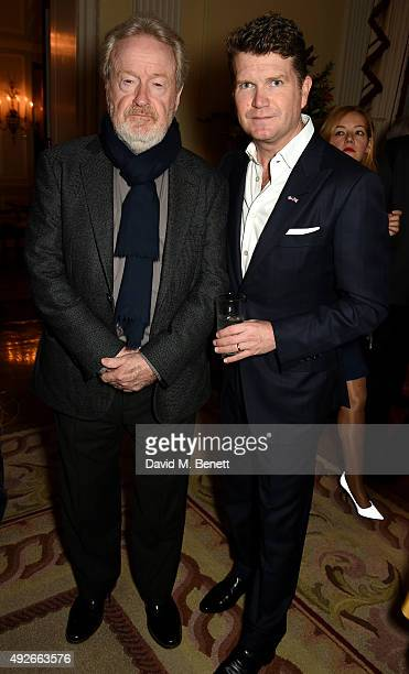 Director Ridley Scott and Ambassador Matthew Barzun attend The Academy Of Motion Pictures Arts Sciences new members reception hosted by Ambassador...