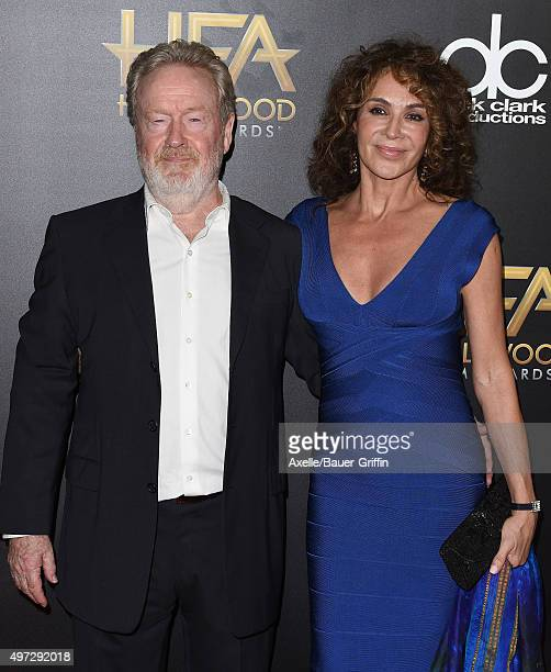 Director Ridley Scott and Giannina Facio arrive at the 19th Annual Hollywood Film Awards at The Beverly Hilton Hotel on November 1, 2015 in Beverly...