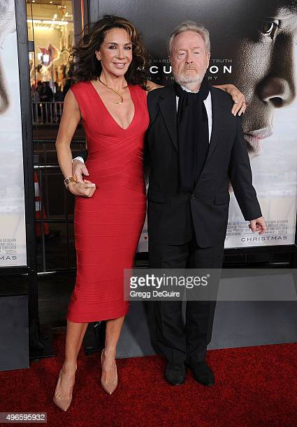 "Director Ridley Scott and Giannina Facio arrive at the AFI FEST 2015 Presented By Audi Centerpiece Gala Premiere of Columbia Pictures' ""Concussion""..."