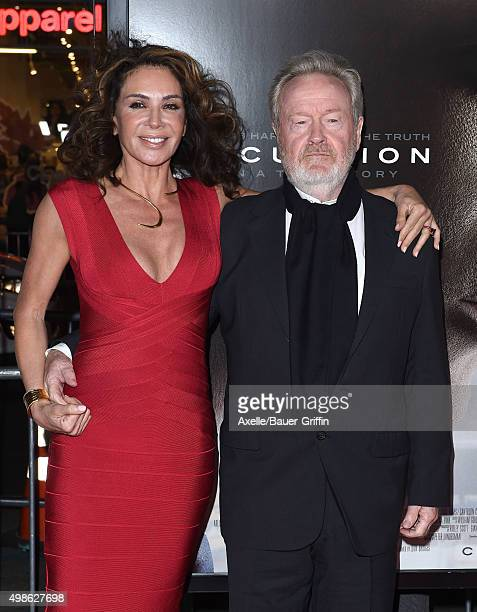 Director Ridley Scott and Giannina Facio arrive at the AFI FEST 2015 Presented By Audi Centerpiece Gala Premiere of Columbia Pictures' 'Concussion'...