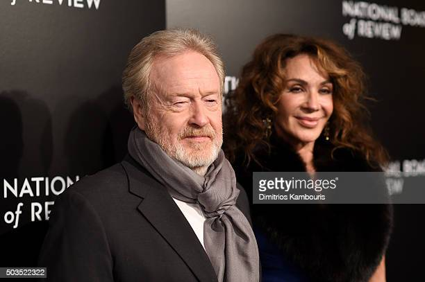 Director Ridley Scott and Giannina Facio attend 2015 National Board of Review Gala at Cipriani 42nd Street on January 5, 2016 in New York City.