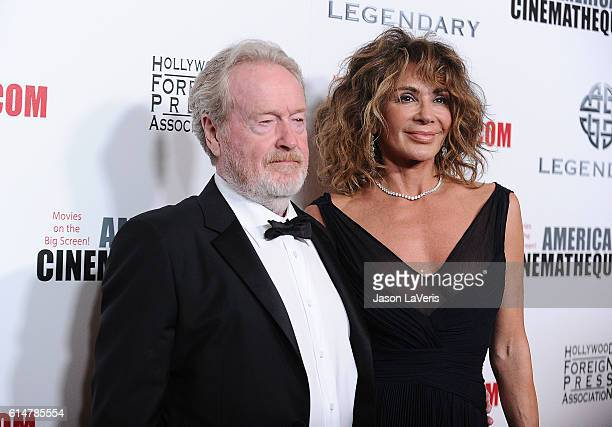 Director Ridley Scott and Giannina Facio attend the 30th annual American Cinematheque Awards gala at The Beverly Hilton Hotel on October 14, 2016 in...