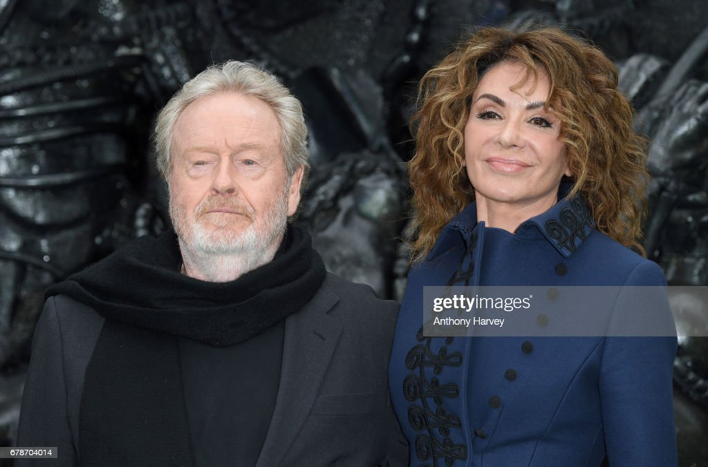 Director Ridley Scott and Giannina Facio attend the World Premiere of 'Alien: Covenant' at Odeon Leicester Square on May 4, 2017 in London, England.
