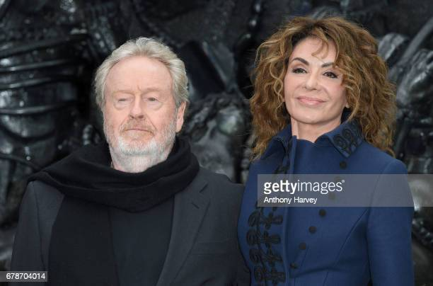 "Director Ridley Scott and Giannina Facio attend the World Premiere of ""Alien: Covenant"" at Odeon Leicester Square on May 4, 2017 in London, England."