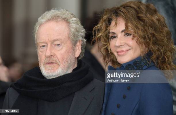 Director Ridley Scott and Giannina Facio attend the World Premiere of Alien Covenant at Odeon Leicester Square on May 4 2017 in London England