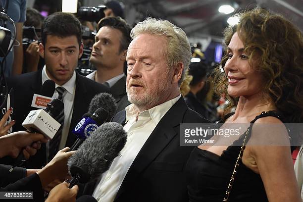 """Director Ridley Scott and wife Felicity Heywood attend """"The Martian"""" premiere during the 2015 Toronto International Film Festival at Roy Thomson Hall..."""