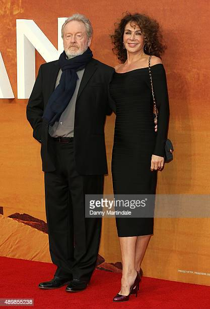 "Director Ridley Scott and wife Giannina Facio attend the European premiere of ""The Martian"" at Odeon Leicester Square on September 24, 2015 in..."
