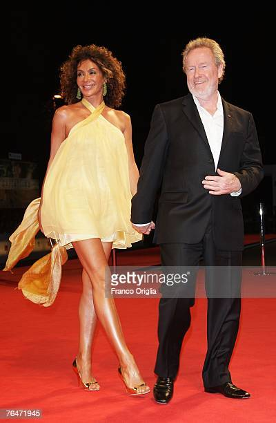 Director Ridley Scott and wife Giannina Facio attends the Blade Runner premiere in Venice during day 4 of the 64th Venice Film Festival on September...