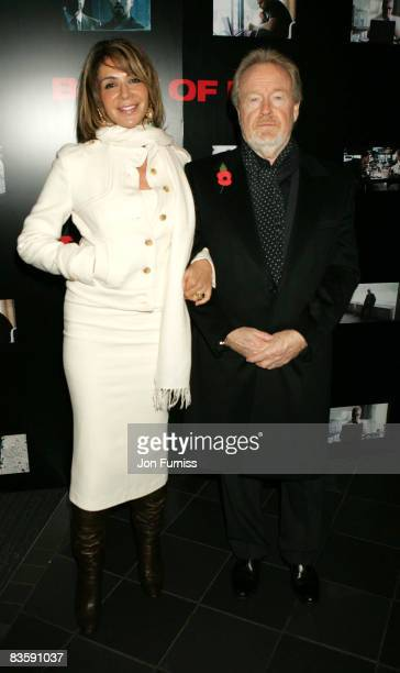 Director Ridley Scott and wife Giannina Facio attends the UK premiere of Body Of Lies at Vue West End on November 6, 2008 in London, England.
