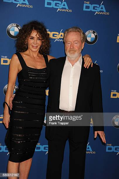 Director Ridley Scott and wife, Giannina Facio-Scott arrive at the 68th Annual Directors Guild Of America Awards held at the Hyatt Regency Century...
