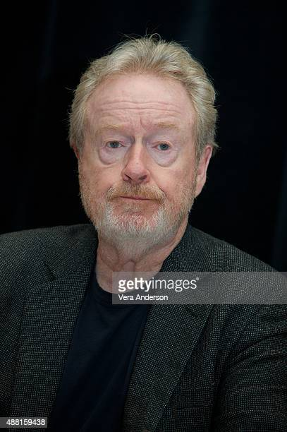 Director Ridley Scott at 'The Martian' Press Conference at the Ritz Carlton on September 11 2015 in Toronto Ontario