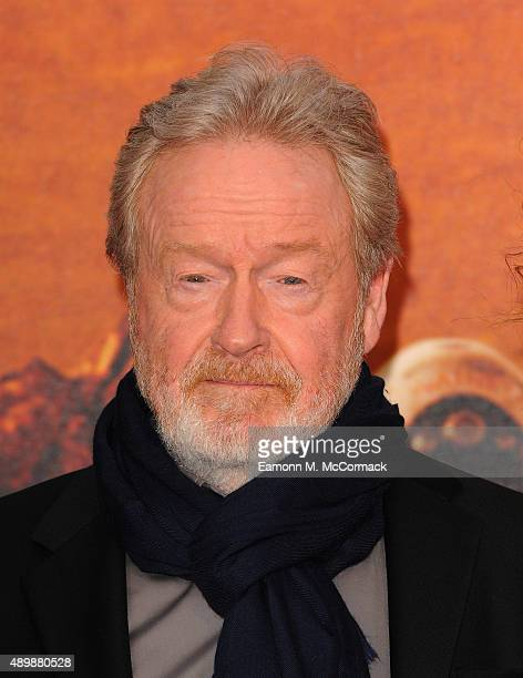 Director Ridley Scott attends the European premiere of 'The Martian' at Odeon Leicester Square on September 24 2015 in London England