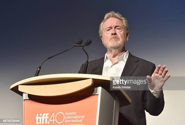 Director Ridley Scott attends 'The Martian' premiere during the 2015 Toronto International Film Festival at Roy Thomson Hall on September 11 2015 in...
