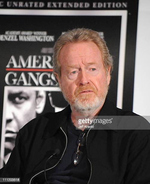 Director Ridley Scott during the American Gangster DVD Screening Event with Ridley Scott held at the Landmark Theater on February 19 2008 in Westwood...