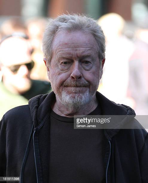 Director Ridley Scott sighting on set of his lastest film The Counselor on September 8 2012 in London England
