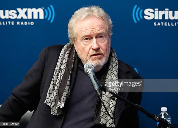 Director Ridley Scott takes part in a SiriusXM 'Town Hall Exodus Gods and Kings' special with host Matt Bean Editor of Entertainment Weekly on...
