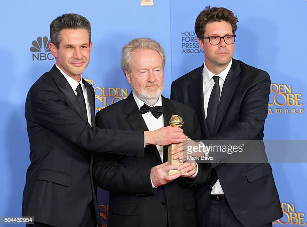 Director Ridley Scott winner of Best Motion Picture Musical or Comedy for 'The Martian' poses in the press room during the 73rd Annual Golden Globe...