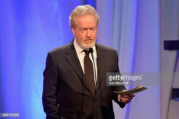 Director Ridley Scott winner of the Best Director award for 'The Martian' speaks onstage at AARP's 15th Annual Movies For Grownups Awards at the...