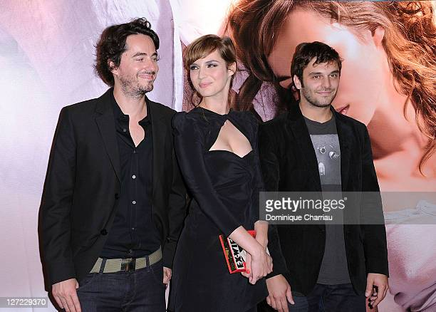 "Director Rémi Bezançon, Actress Louise Bourgoin and Actor Pio Marmai attend ""Un Heureux Evenement"" premiere at UGC Cine Cite Bercy on September 26,..."
