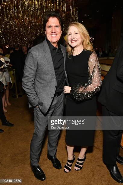 Director Rob Marshall and Patricia Clarkson attend the after party for the Mary Poppins Returns screening hosted by The Cinema Society at The Top of...