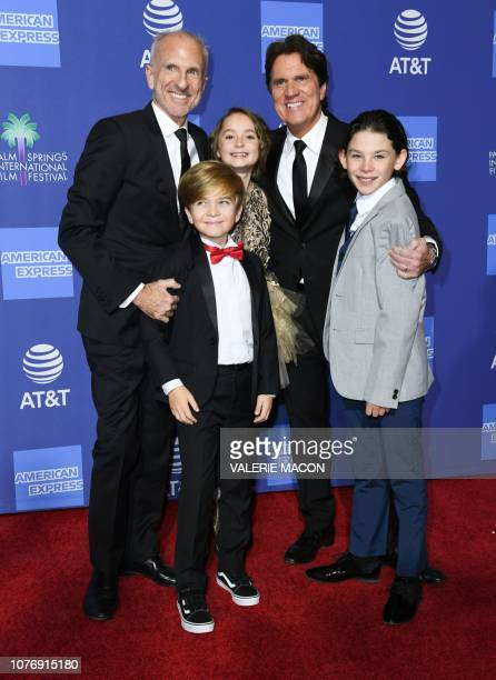 Director Rob Marshall , his husband producer John DeLuca and actors Joel Dawson , Pixie Davies and Nathanael Saleh arrive for the 30th Annual Palm...