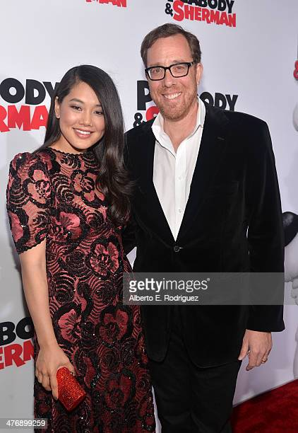 Director Rob Minkoff and Crystal Kung attend the premiere of Twentieth Century Fox and DreamWorks Animation's Mr Peabody Sherman at Regency Village...