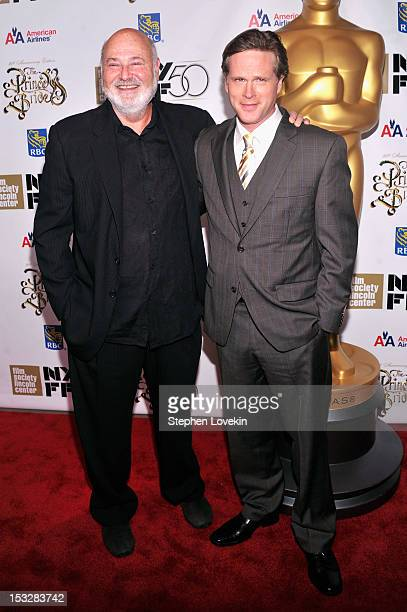 Director Rob Reiner and Cary Elwes attend the 25th anniversary screening cast reunion of The Princess Bride during the 50th New York Film Festival at...