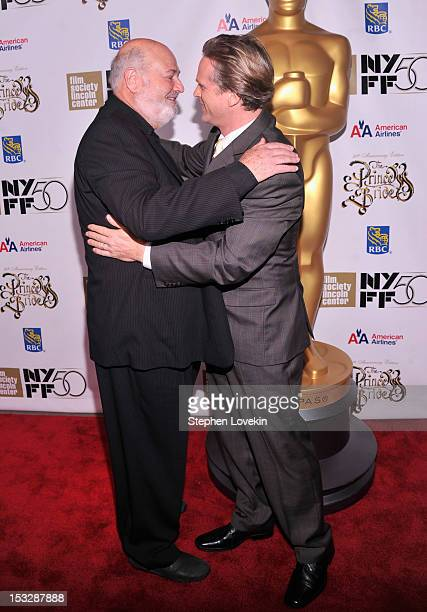 Director Rob Reiner and Cary Elwes attend the 25th anniversary screening cast reunion of 'The Princess Bride' during the 50th New York Film Festival...