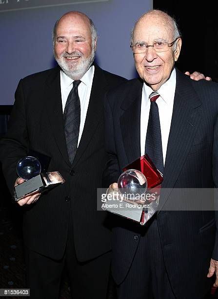 Director Rob Reiner and comedian Carl Reiner attend the 23rd Annual Israel Film Festival Gala Awards Dinner held at the Beverly Hilton Hotel on June...