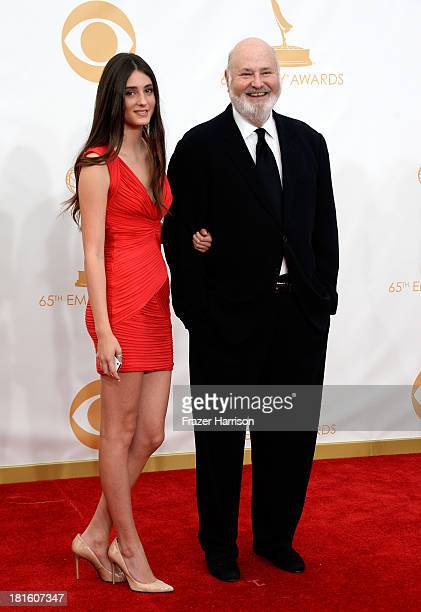 Director Rob Reiner and daugher Tracy Reiner arrive at the 65th Annual Primetime Emmy Awards held at Nokia Theatre LA Live on September 22 2013 in...