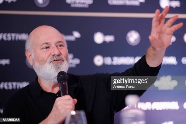 Director Rob Reiner speaks during the 'Shock and Awe' press conference during the 13th Zurich Film Festival on September 30 2017 in Zurich...
