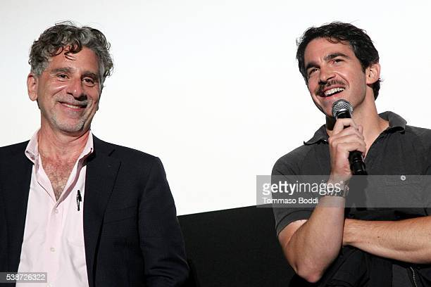 """Director Rob Spera and actor Chris Messina speak onstage at the premiere of """"The Sweet Life"""" during the 2016 Los Angeles Film Festival at Arclight..."""