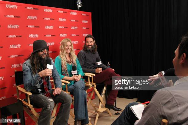 Director Rob Zombie actress Sheri Moon Zombie and actor Jeffrey Daniel Phillips attend the Variety Studio Presented By Moroccanoil during the Toronto...