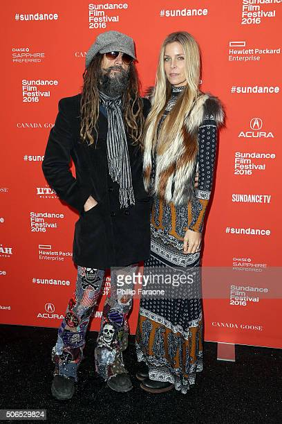 Director Rob Zombie and actress Sheri Moon Zombie attend the '31' Premiere during the 2016 Sundance Film Festival at Library Center Theater on...