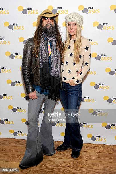 Director Rob Zombie and actress Sheri Moon Zombie in The IMDb Studio In Park City Utah Day Three on January 24 2016 in Park City Utah