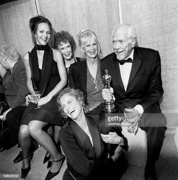Director Robert Altman his granddaughter Signi Lohmann his wife Kathryn Altman his daughter Konni Corriere and model Lauren Hutton are photographed...