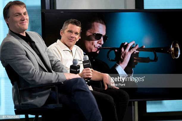 """Director Robert Budreau and actor Ethan Hawke attend the AOL Build Speaker Series to discuss """"Born To Be Blue"""" at AOL Studios In New York on March..."""