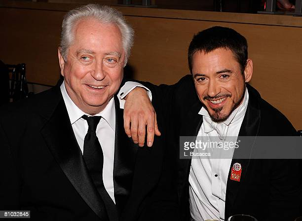 Director Robert Downey Sr and actor Robert Downey Jr attend Time's 100 Most Influential People in the World gala at Jazz at Lincoln Center on May 8...