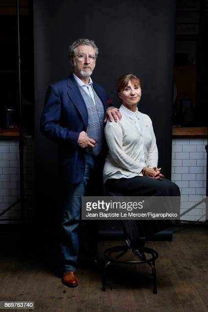 Director Robert Guediguian with his favorite actress Ariane Ascaride are photographed for Madame Figaro on September 15 2017 at the Toronto Film...