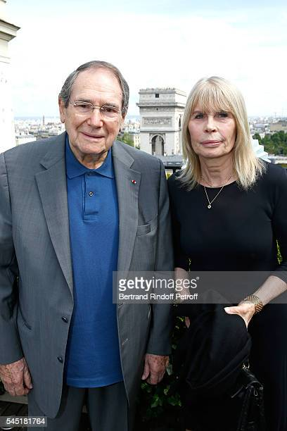 Director Robert Hossein and Candice Patou attend the Franck Sorbier Haute Couture Fall/Winter 2016-2017 show as part of Paris Fashion Week on July 6,...